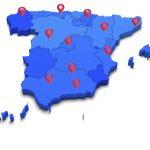 Spain 3D blue map